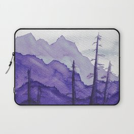 Tonal Mountain Study 2 Purple Laptop Sleeve