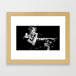 Kamikaze singing Framed Art Print