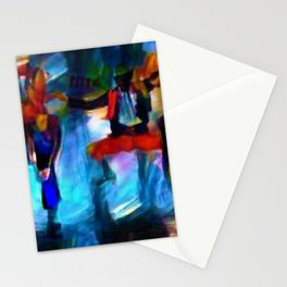 Harlem Renaissance 70's Poppin' and Lockin' African American Dance Portrait Stationery Cards