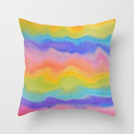 rainbow melt / rainbow paint splurge Throw Pillow