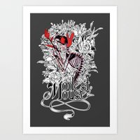 modest mouse Art Prints featuring Modest Mouse by Supuru