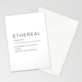 Ethereal Definition Stationery Cards