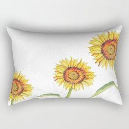 Watercolour Sunflower  Rectangular Pillow