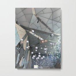The Atrium Lights Metal Print