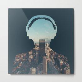 New York, New York Headset Metal Print