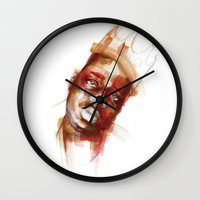 biggie Wall Clocks featuring Biggie  by Allison Kunath