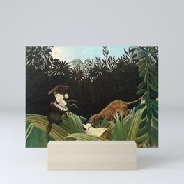 Henri Rousseau - Scouts Attacked by a Tiger Mini Art Print