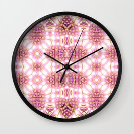 Pink Energy Glow #3 Wall Clock