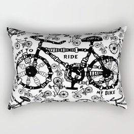 I Want To Ride My Bike Rectangular Pillow