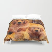 mom Duvet Covers featuring Mom by Robin Curtiss