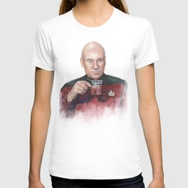 Captain Picard Tea Earl Grey Hot Painting T-shirt
