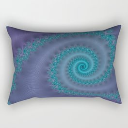 Purple Puffy Paint - Fractal Art Rectangular Pillow
