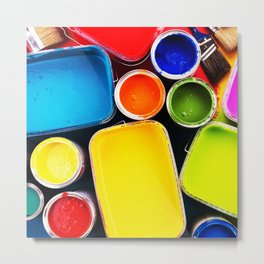 Colorful Paint Metal Print