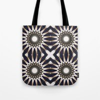 chocolate Tote Bags featuring Chocolate Flower Mandala Pattern by 2sweet4words Designs