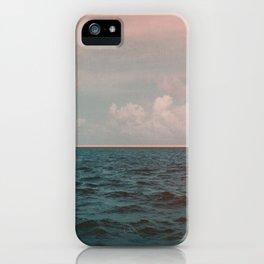 Turquoise Ocean Peach Sunset iPhone Case
