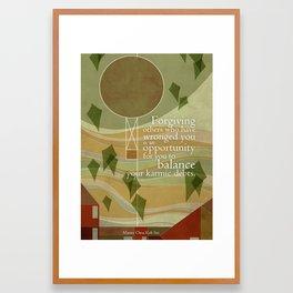 Balance your karmic debts Framed Art Print