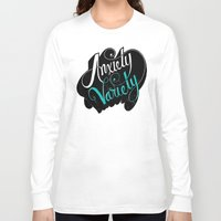 anxiety Long Sleeve T-shirts featuring Anxiety Variety by Chris Piascik