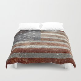 Old Glory, The Star Spangled Banner Duvet Cover