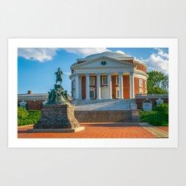 Virginia Charlottesville Campus Print Art Print
