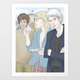 1th Day - Berlin (Hetalia Postcard Serie) Art Print