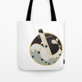 Bubble tea Whale Black Tote Bag