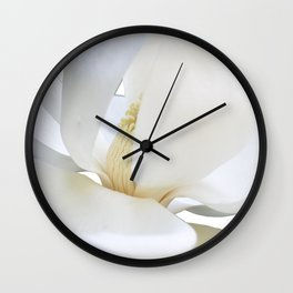magnolia bloom Wall Clock
