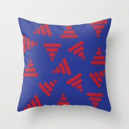 Pyramid Blue Throw Pillow