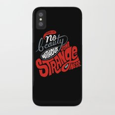 There is no beauty without some strangeness. Slim Case iPhone X