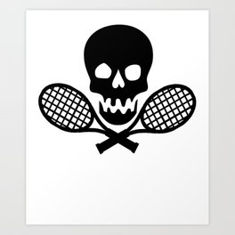 Tennis Skull Art Print