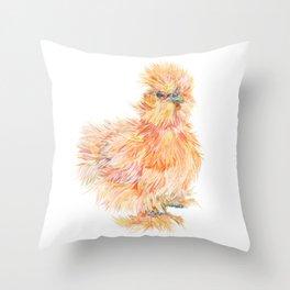 Silkie Chicken - Sweet Potato Throw Pillow