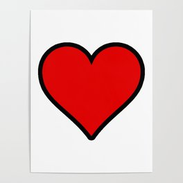 Heart Shape Digital Illustration, Modern Artwork Poster