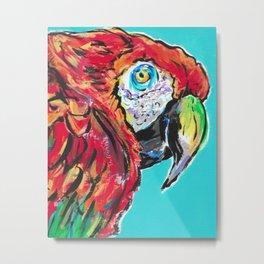 Parrot Macaw Ca-caw Metal Print