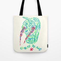 Skull On Fire #2 Tote Bag