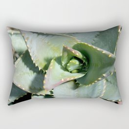 Cactus plants succulent in blues botanical photography no 7 Rectangular Pillow