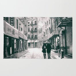 New York City - Snowy Afternoon - Chinatown Rug