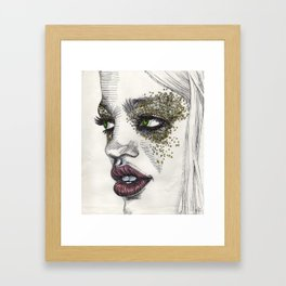 glitter of gold Framed Art Print