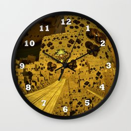 City of Golden Dust Wall Clock