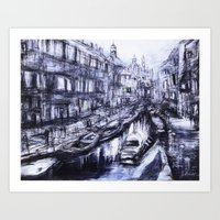 Venice Blue Art Print