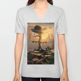 the root of the problem Unisex V-Neck