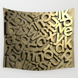 Words are pure gold. Wall Tapestry