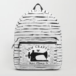 Sew Crafty - Just Make It - Do It Yourself - Backpack