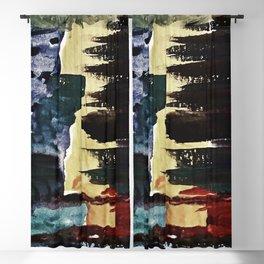 WatercolorEarth Blackout Curtain