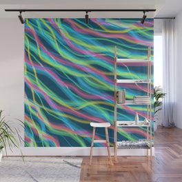 80s Ripple Wall Mural