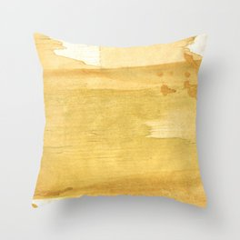 Sandy brown abstract wash painting Throw Pillow