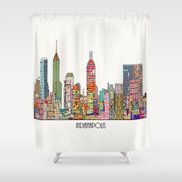 Indianapolis skyline Shower Curtain