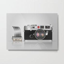 Retro camera Metal Print