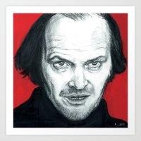 jack nicholson Art Prints featuring Jack Nicholson by Alyssa Szatny