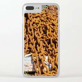 chains....rusting Clear iPhone Case