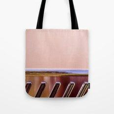 Pink Classic American Car Tote Bag