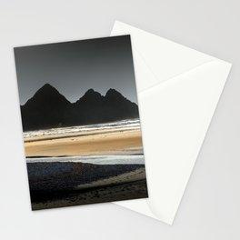 Grey sky at Three Cliffs Bay Stationery Cards